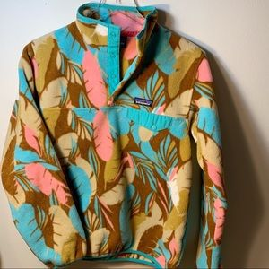 Patagonia Feather Dance Bear Synchilla Snap T | S